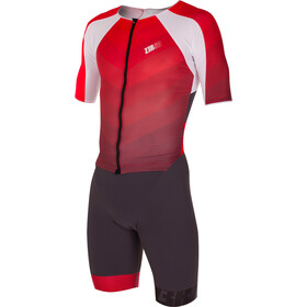 Z3R0D Racer Time Trial Trisuit Heren, grey/red